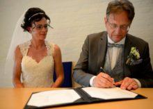 Huwelijk Debbie & Wim in het Gemeentehuis