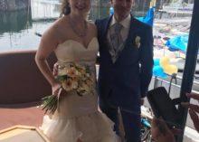 Huwelijk Jacolien & Victor op een jacht
